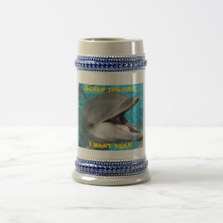 Dolphin- I want beer! Beer Stein