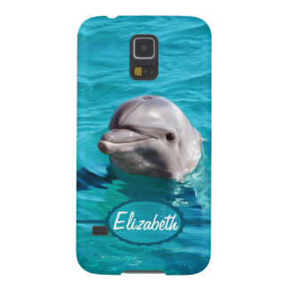 Dolphin in Blue Water Photo Case For Galaxy S5