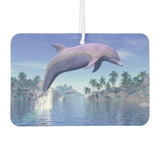 Dolphin in the tropics - 3D render Car Air Freshener