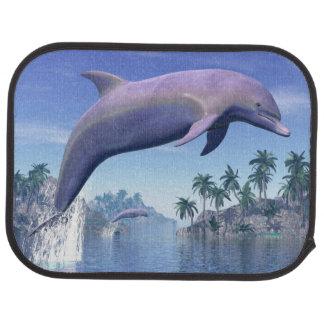 Dolphin in the tropics - 3D render Car Mat