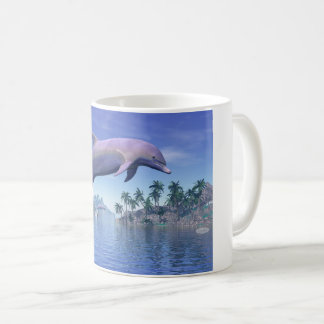 Dolphin in the tropics - 3D render Coffee Mug