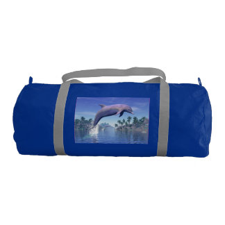 Dolphin in the tropics - 3D render Gym Bag