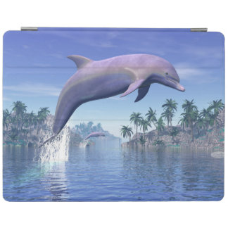 Dolphin in the tropics - 3D render iPad Cover