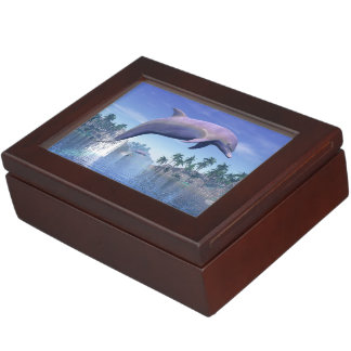 Dolphin in the tropics - 3D render Memory Boxes