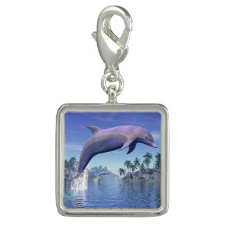 Dolphin in the tropics - 3D render Photo Charm