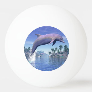Dolphin in the tropics - 3D render Ping Pong Ball