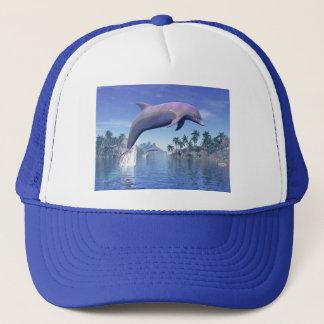 Dolphin in the tropics - 3D render Trucker Hat