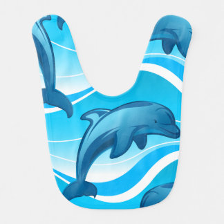 Dolphin jumping waves bib