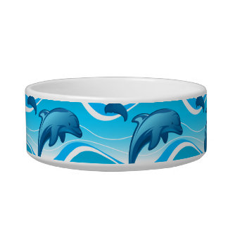 Dolphin jumping waves cat water bowls