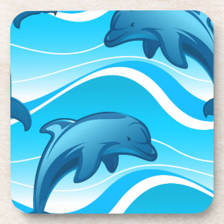 Dolphin jumping waves coaster