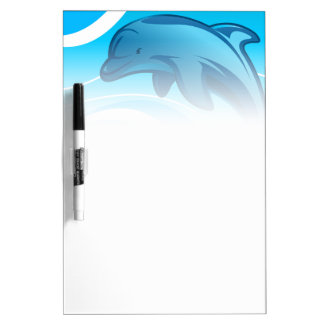 Dolphin jumping waves dry erase board