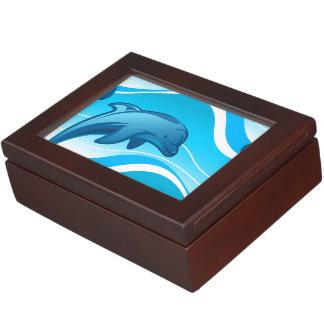 Dolphin jumping waves keepsake box