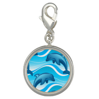 Dolphin jumping waves photo charms
