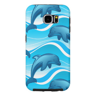 Dolphin jumping waves samsung galaxy s6 cases