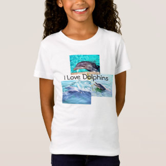 "Dolphin Kids T-Shirt ""I love Dolphins"""