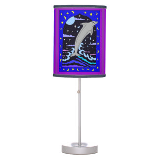 Dolphin `Leap for the stars' Table Lamp