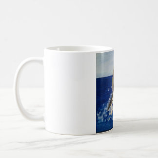 Dolphin Leap Painting In Acrylic Coffee Mug