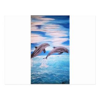 Dolphin Leap Postcard