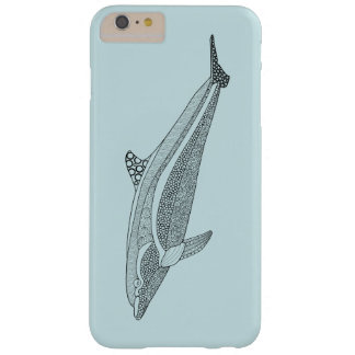 Dolphin Line Art Design Barely There iPhone 6 Plus Case