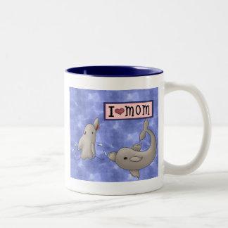 Dolphin Love Two-Tone Coffee Mug