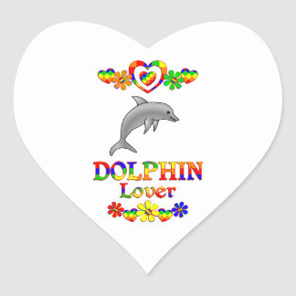 Dolphin Lover Heart Sticker
