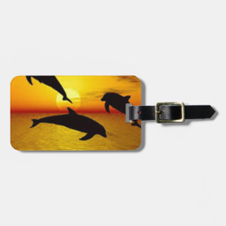 dolphin luggage tag