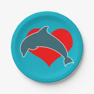 Dolphin Luv Paper Plates 7 Inch Paper Plate