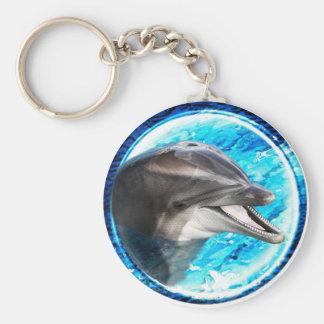 Dolphin magnet keychain