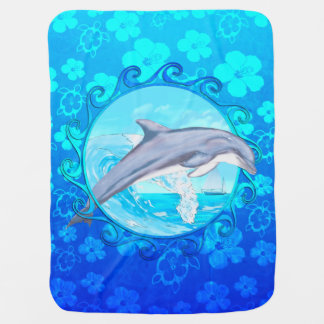 Dolphin Maori Sun Baby Blanket