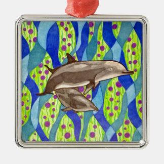 dolphin metal ornament