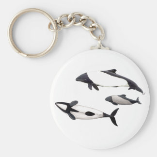 Dolphin of Commerson Keychain