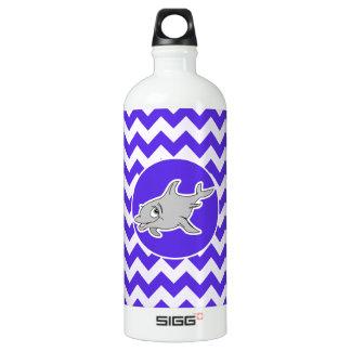 Dolphin on Blue Violet Chevron