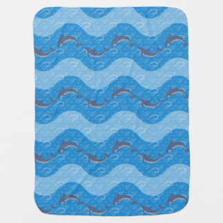 Dolphin Patterned Baby Blanket