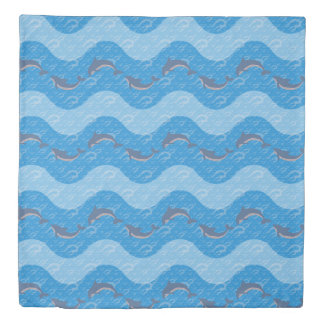 Dolphin Patterned Duvet Cover