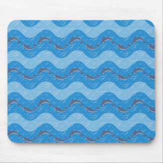 Dolphin Patterned Mouse Pad