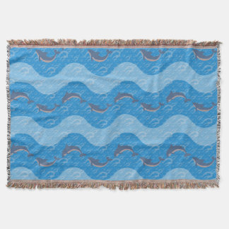Dolphin Patterned Throw Blanket