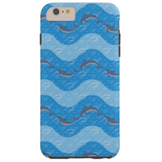 Dolphin Patterned Tough iPhone 6 Plus Case