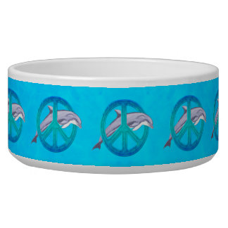 Dolphin Peace Pet Water Bowl