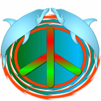 Dolphin Peace Photo Sculpture