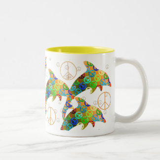 Dolphin Peace Sunday Mug