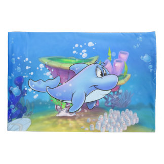 Dolphin pillowcase cartoon