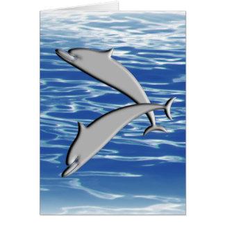 Dolphin Play Card