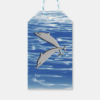 Dolphin Play Gift Tags
