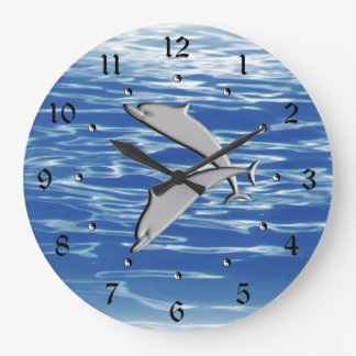 Dolphin Play Large Clock