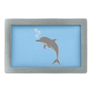 Dolphin Rectangular Belt Buckle
