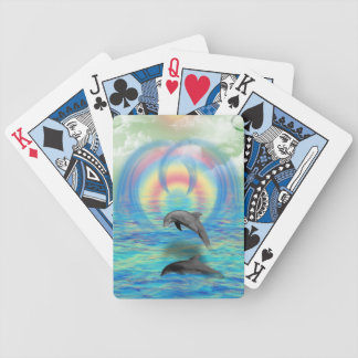 Dolphin Rising Bicycle Playing Cards