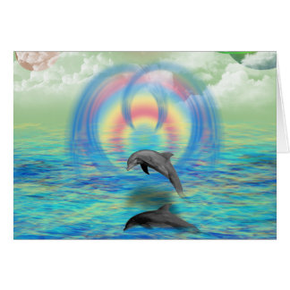 Dolphin Rising Card