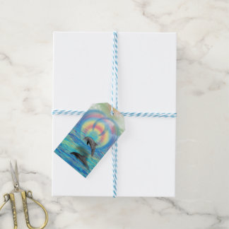 Dolphin Rising Gift Tags