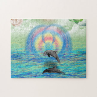 Dolphin Rising Jigsaw Puzzle