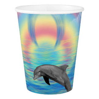 Dolphin Rising Paper Cup